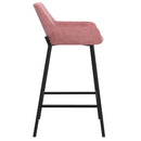 BAILY-26'' COUNTER STOOL-DUSTY ROSE, SET OF 2