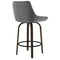 KENZO-26'' COUNTER STOOL-GREY, SET OF 2