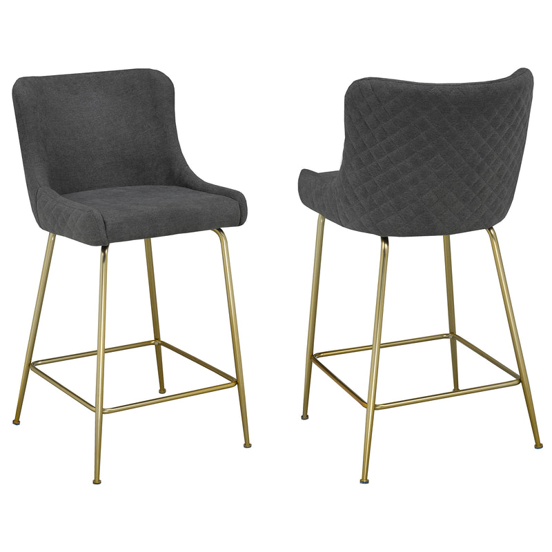 "GISELLE-26"" COUNTER STOOL-GREY, SET OF 2"