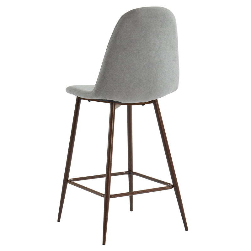 ONIO-26'' COUNTER STOOL-GREY/WALNUT LEG, SET OF 2