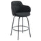 COLANI-26'' COUNTER STOOL-CHARCOAL, SET OF 2