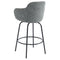COLANI-26'' COUNTER STOOL-GREY, SET OF 2