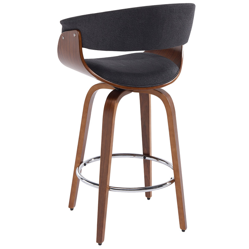 "HOLT-26"" COUNTER STOOL-FABRIC CHARCOAL"