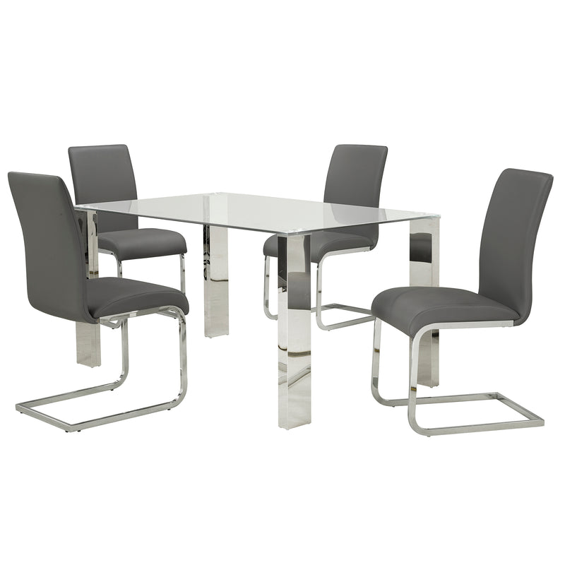 FRANKFURT/MAXIM GY-5PC DINING SET
