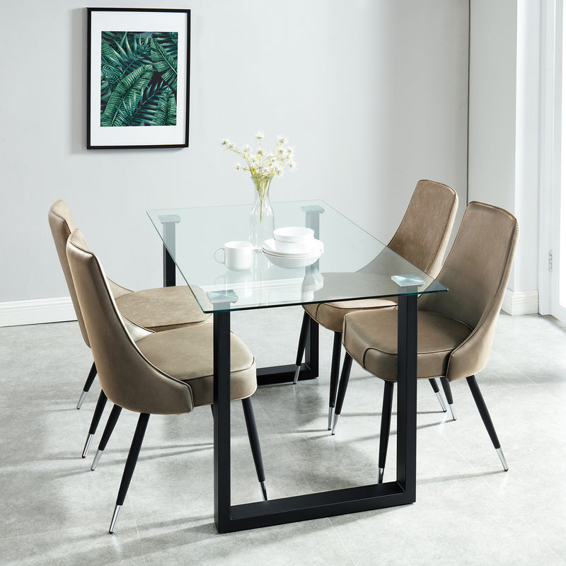 FRANCO BK/SILVANO TP-5PC DINING SET