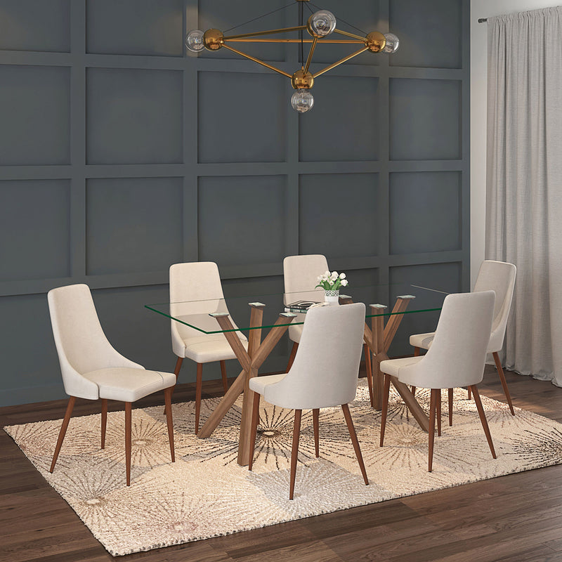 STARK WAL/CORA BG-7PC DINING SET