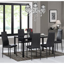CONTRA-7PC DINING SET-BLACK
