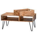 JAYDO-COFFEE TABLE-NATURAL BURNT