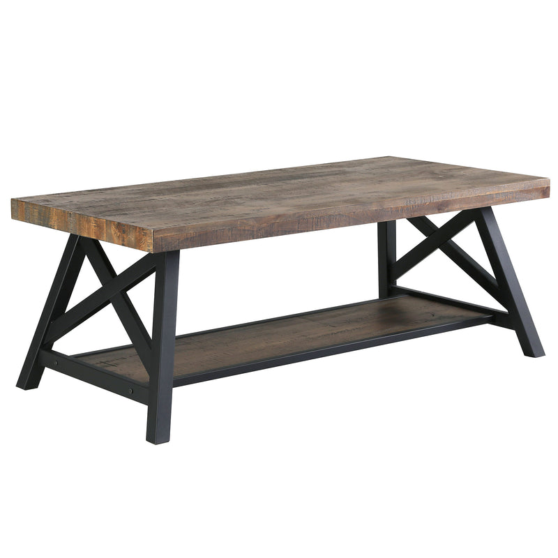 LANGPORT-COFFEE TABLE-RUSTIC OAK