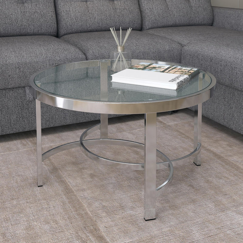 STRATA-COFFEE TABLE-CHROME