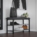 FOSTER-2 TIER SHOE BENCH-BLACK