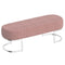 ZAMORA-BENCH-DUSTY ROSE/SILVER LEG