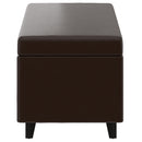 WYATT-LIFT-TOP COCKTAIL OTTOMAN-BROWN