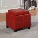 ANTON II-STORAGE OTTOMAN-RED