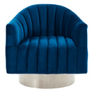 CORTINA-ACCENT CHAIR-BLUE/SILVER