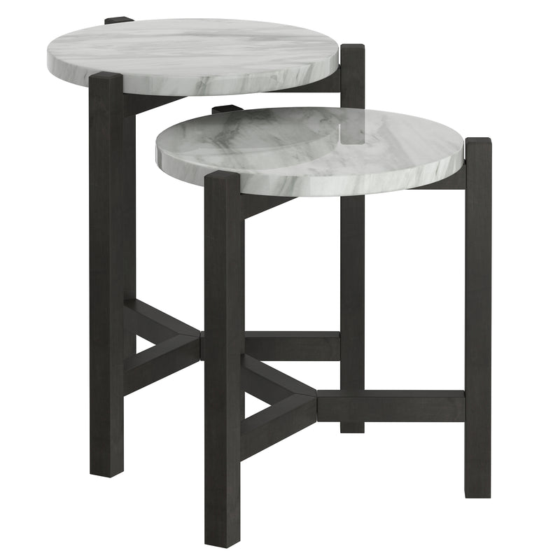 PASCAL-SET OF 2 ACCENT TABLE-GREY