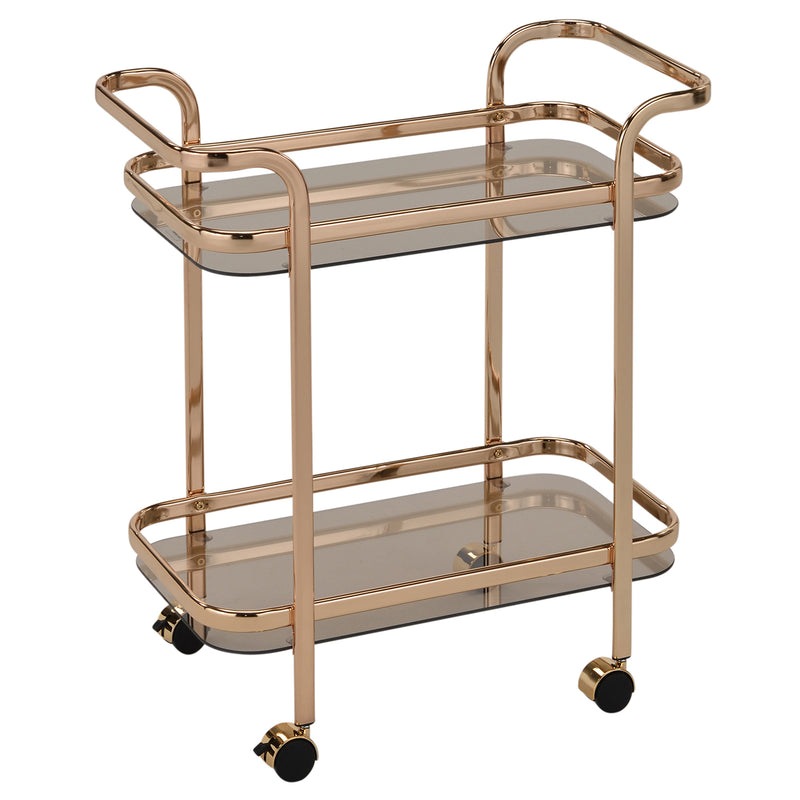 ZEDD-2-TIER BAR CART-GOLD