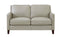 New Haven Beige Top-Grain Leather Sofa Set