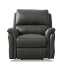 Tyler Black Top-Grain Leather Recliner Sofa Set