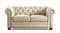 Kennedy Beige Top-Grain Leather Sofa Set