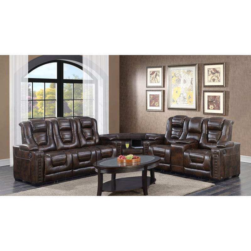 Transformer HSF Top-Grain Leather Recliner Sofa Set