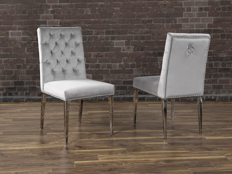 F457 REGAN DINING CHAIR GREY
