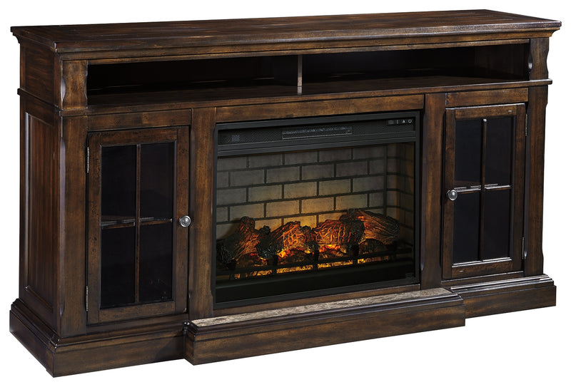 "Roddinton 74"" TV Stand with Electric Fireplace"