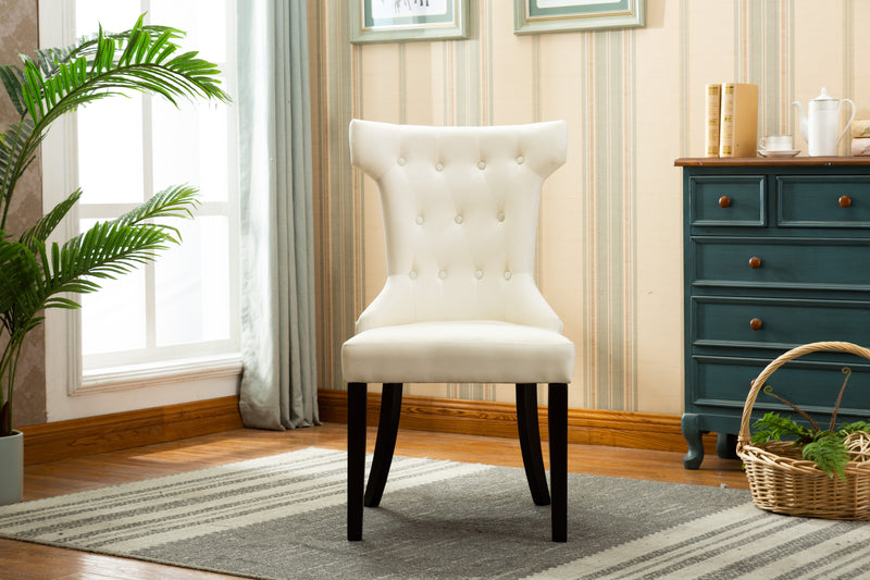 YD-200 ERICA DINING CHAIR BEIGE (SET OF 2)