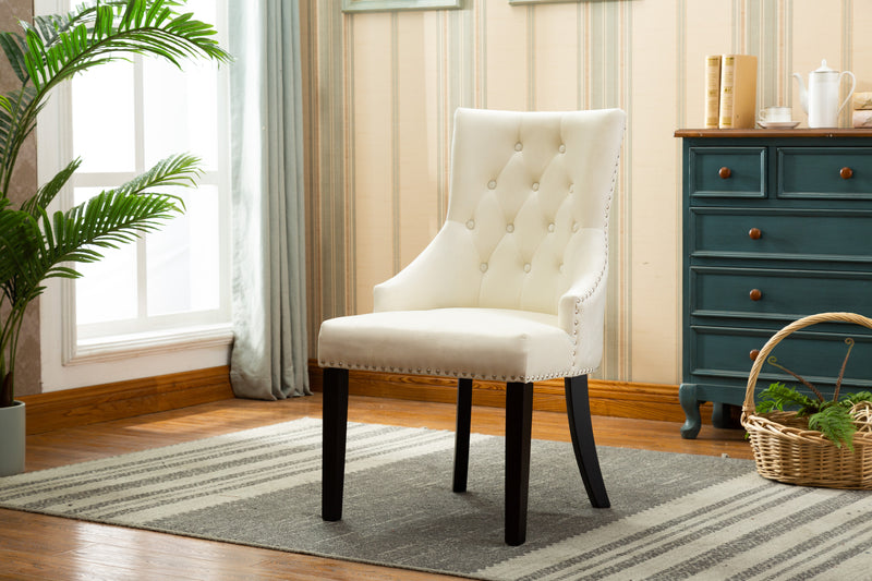 YD-300 PANSY DINING CHAIR BEIGE(SET OF 2)