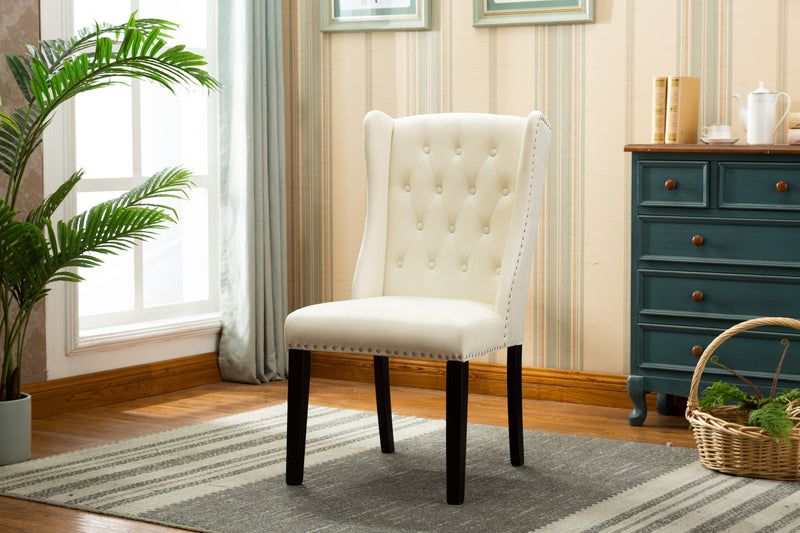 YD-400 MILA DINING CHAIR BEIGE (SET OF 2)