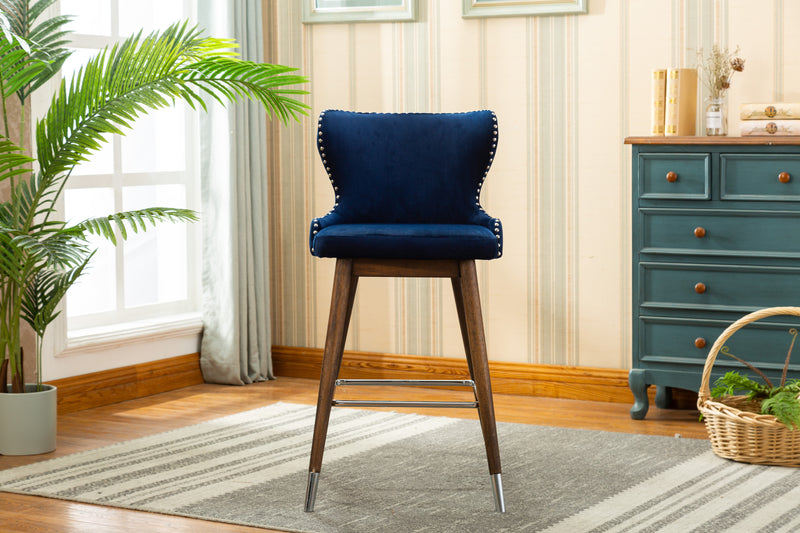 YD-500 CECY BAR STOOL BLUE (SET OF 2)