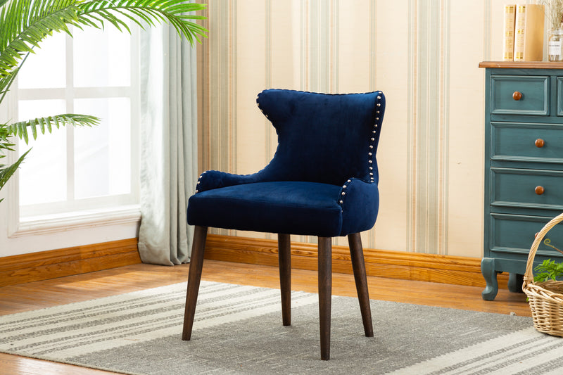 YD-600 CORA DINING CHAIR BLUE (SET OF 2)