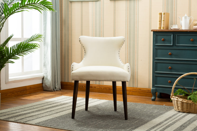 YD-600 CORA DINING CHAIR BEIGE (SET OF 2)
