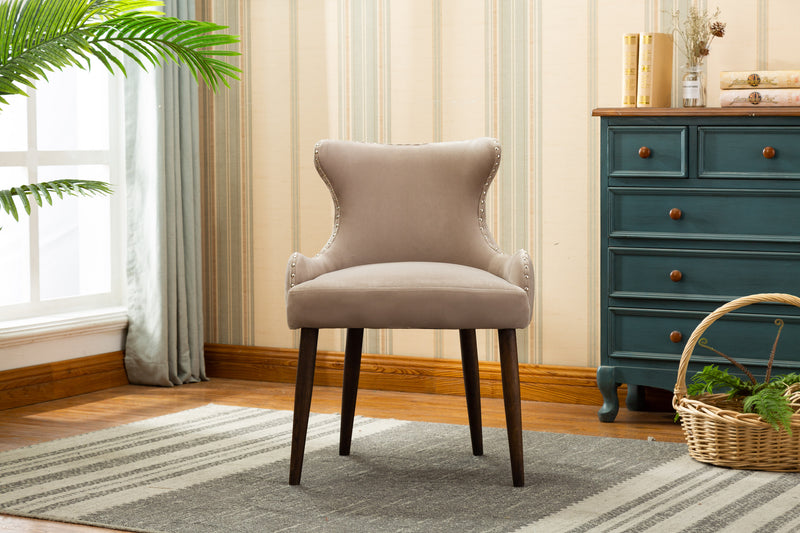 YD-600 CORA DINING CHAIR GREY (SET OF 2)