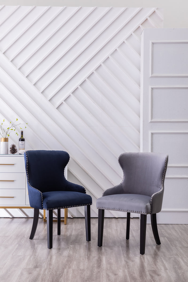 YD-700 LANDO DINING CHAIR BLUE (SET OF 2)