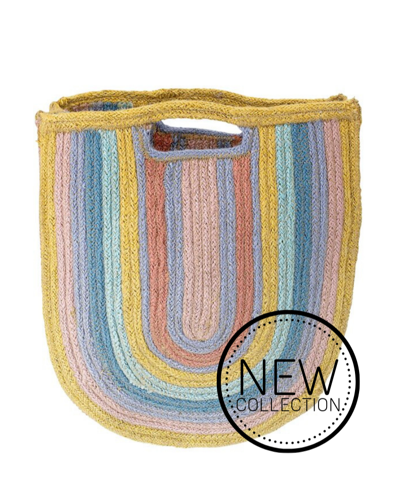 BAG // Rainbow jutte bag