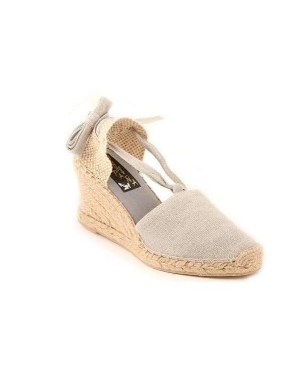 ESPADRILLES // High Wedge with Straps Grey