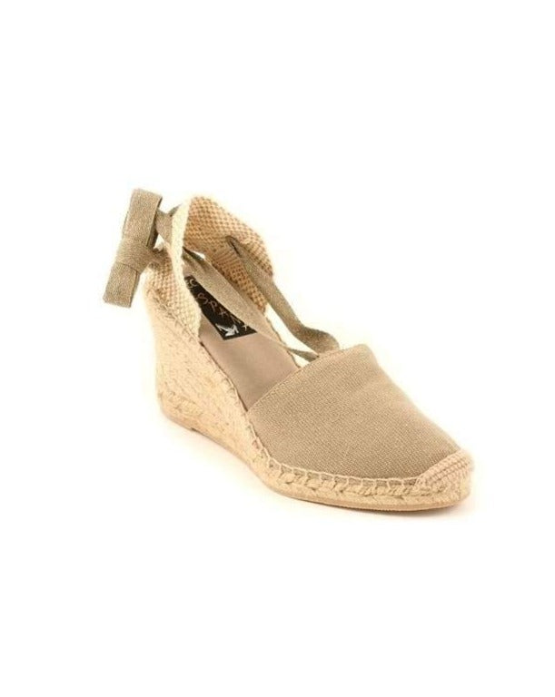 ESPADRILLES // High Wedge with Straps Linen