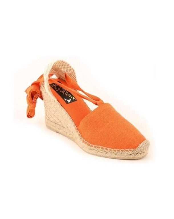 ESPADRILLES // High Wedge with Straps Orange