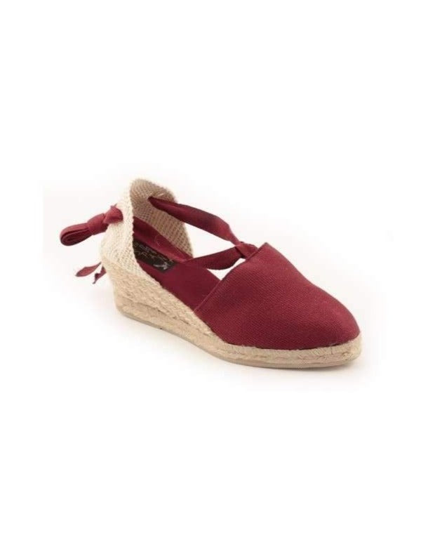 ESPADRILLES // Medium Wedge with Straps Bordeaux