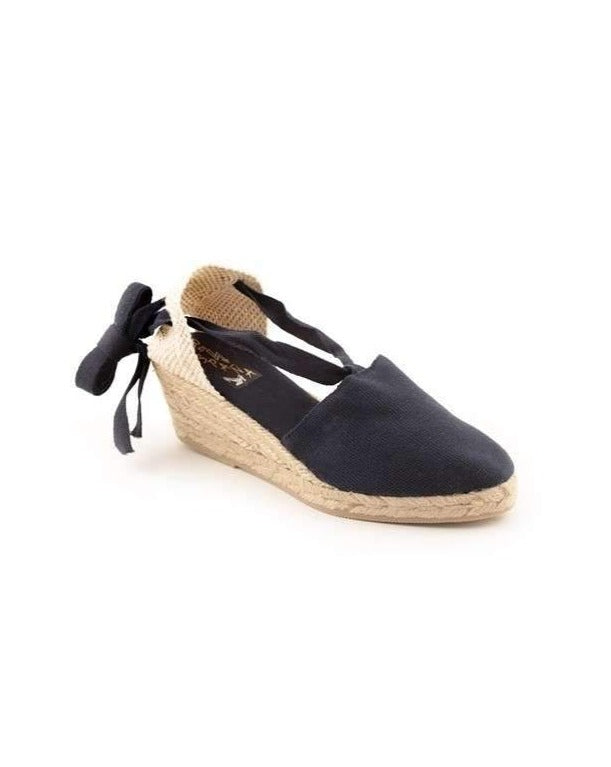 ESPADRILLES // Medium Wedge with Straps Navy