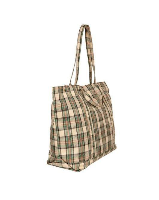 BENSIMON // Green checkered tote - Loja Real