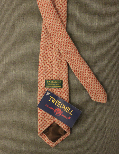 TWEEDMILL // Red and pink illusion tie - Loja Real