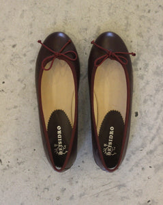 BALLERINAS // Bordeaux leather - Loja Real