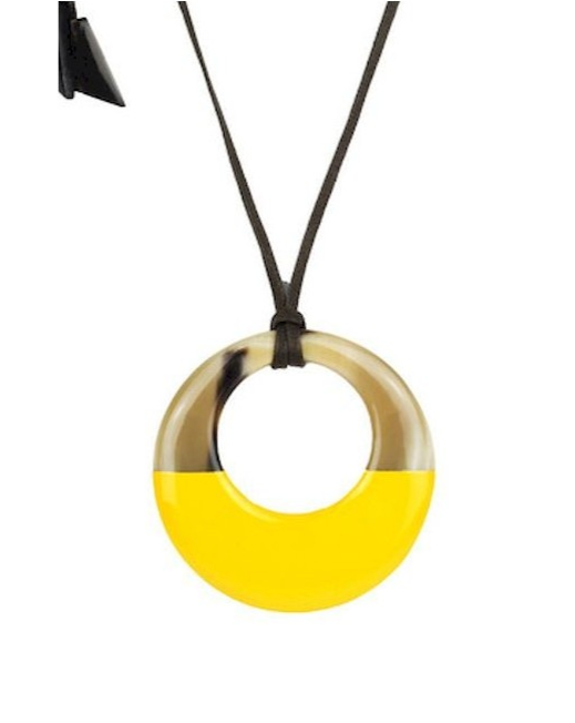 L'INDOCHINEUR // Irregular Pendant Zebu Horn Yellow