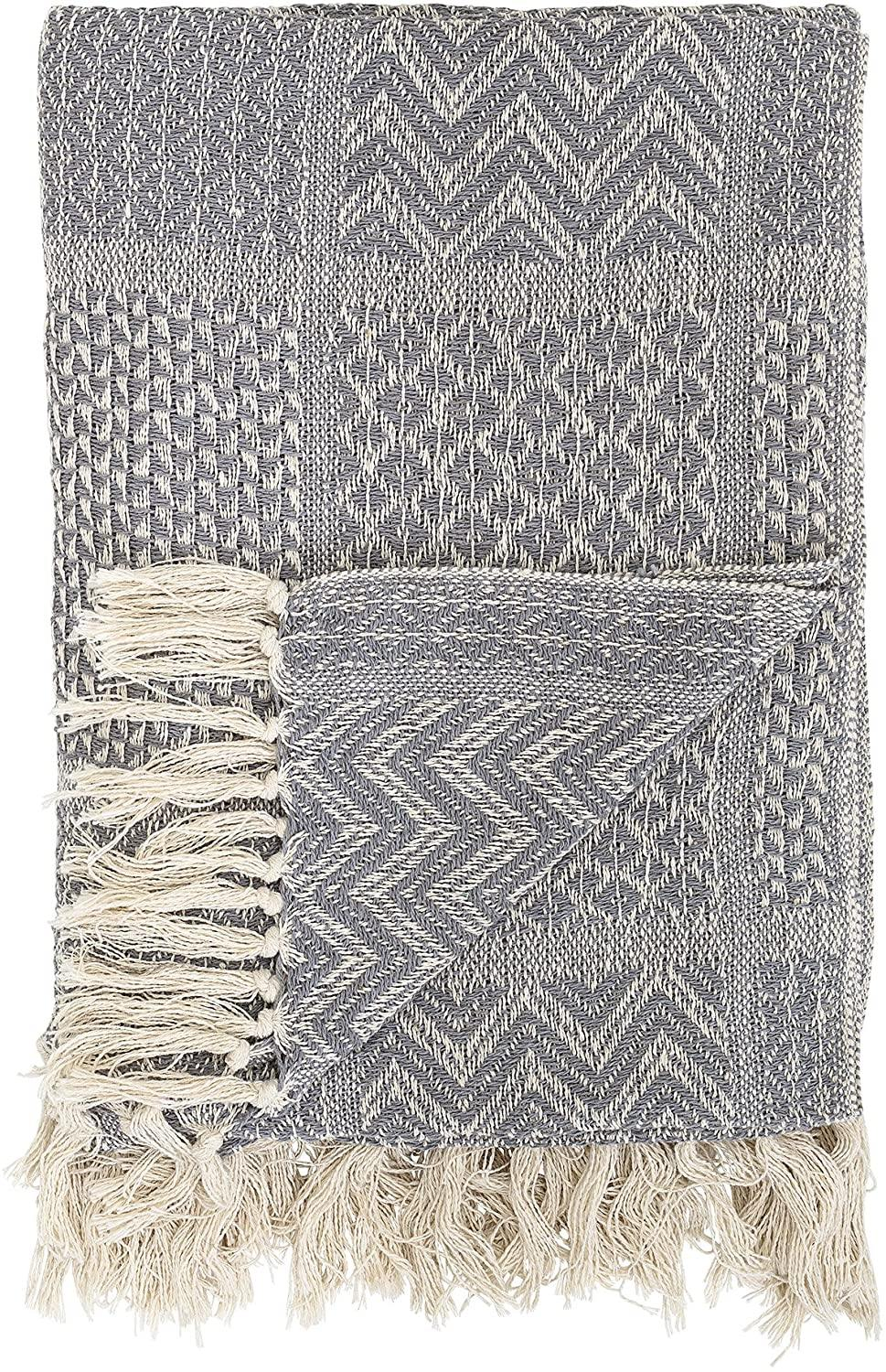 BLANKET // Grey and White pattern - Loja Real