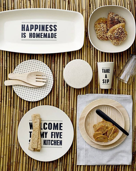 HAPPINESS IS HOMEMADE // Bamboo Serving Plate