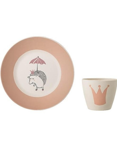 BAMBOO TABLEWARE // Princess plate and cup