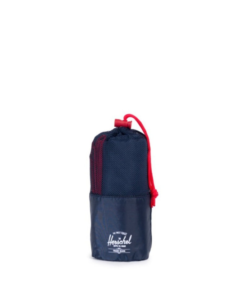 HERSCHEL // Camp towel Navy & Red
