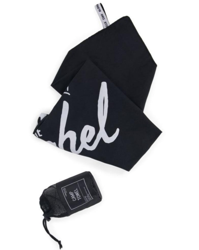 HERSCHEL // Camp towel Black